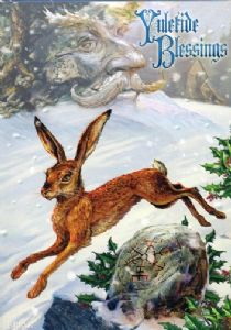 "Briar Yule Card ""Midwinter Rune Hare"" (BY23)"